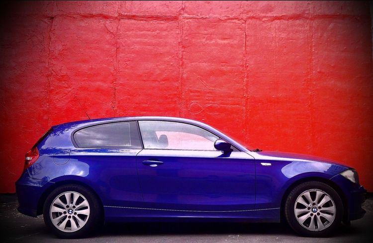 Bmw I ♥ It BMW1 Bmw1series Pink Color Transportation Car BMW Blue Parking Car In The City BMW In Russia Travel Red Vibrant Color Day Blue
