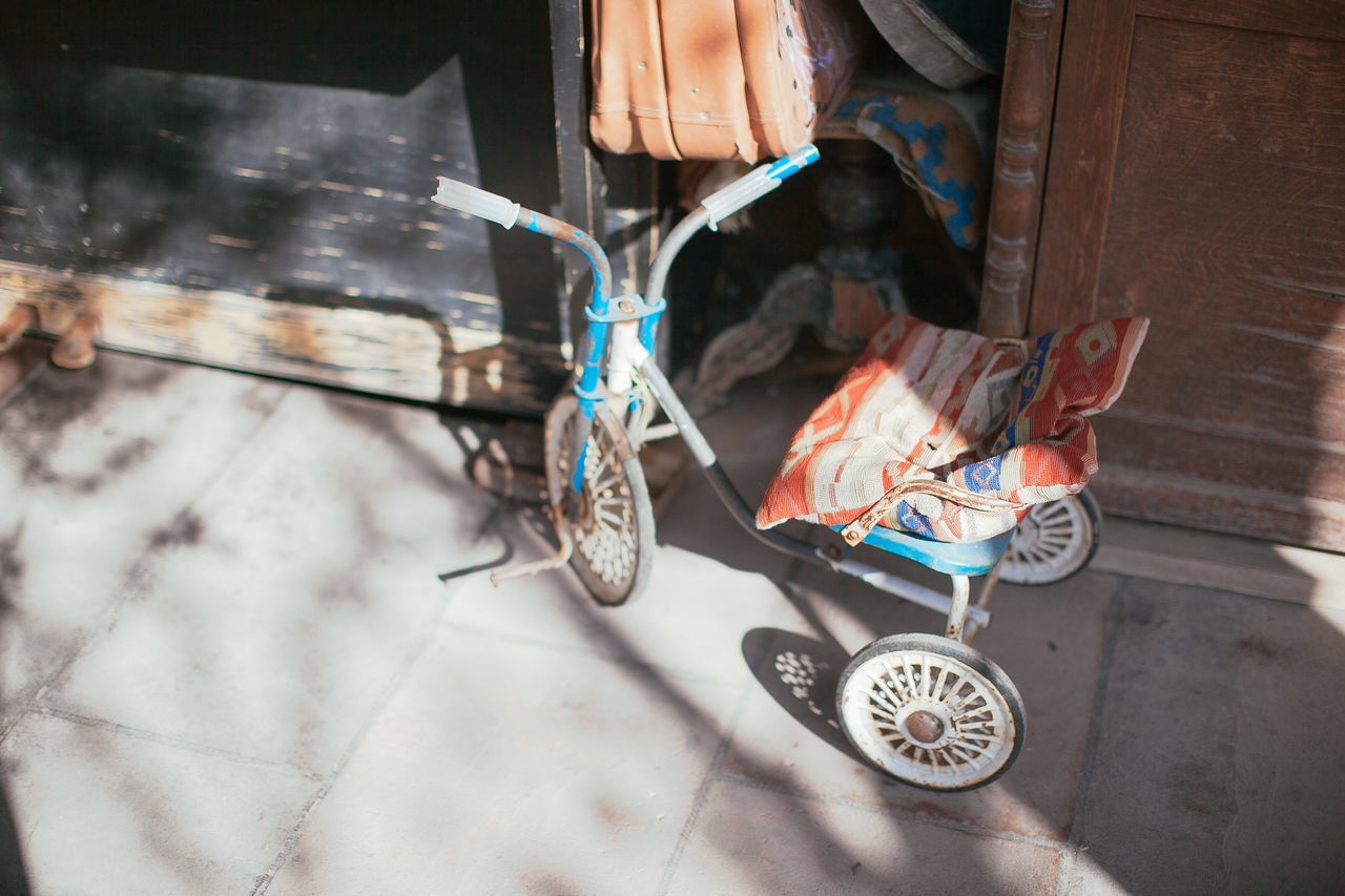 Light And Shadow Old Transportation Tricycle Vehicle Vintage Ethnic