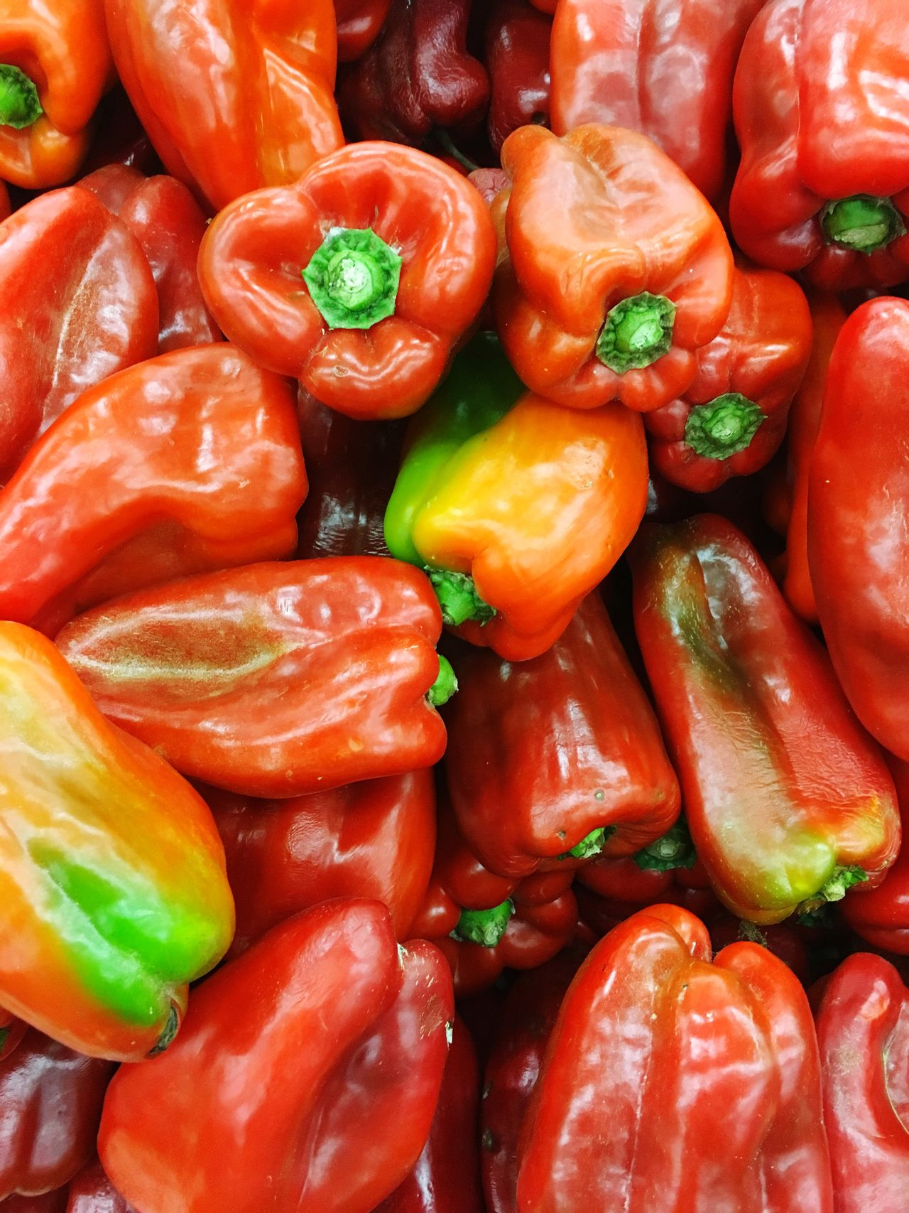 Full Frame Backgrounds Freshness Food And Drink Bell Pepper Red Bell Pepper No People Food Vegetable Red Healthy Eating Textured  Close-up Large Group Of Objects Market Nature Outdoors Day