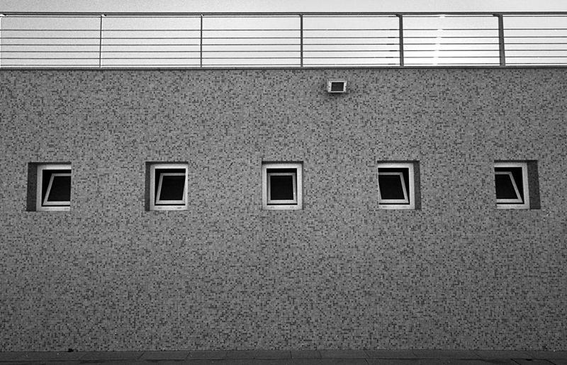 Manfredonia, 2017. Building Exterior No People Built Structure Architecture Outdoors Textured  Monochrome Geometry Wide AngleGeometric Shape Texture Tmax400 Analogue Photography Black & White Backgrounds