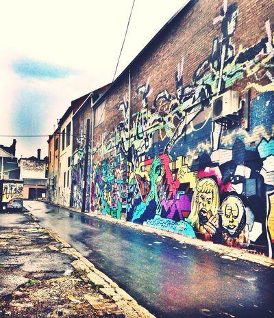 Rainy lane. Streetphotography Taking Photos Streetart Graffiti Urban IPhoneography Art Rain Check This Out Eye4photography