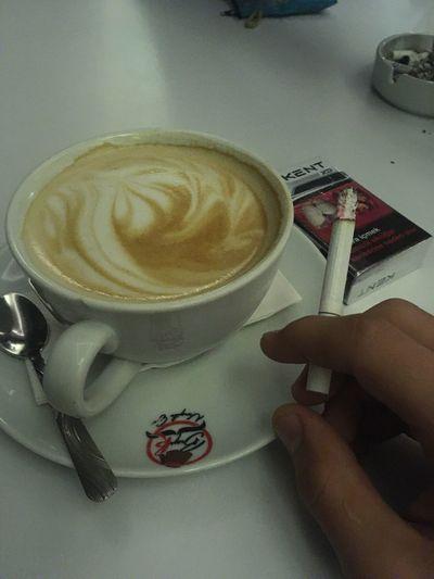Drink Coffee Time Coffee And Cigarette  Kent Smoke Follow4follow Followme