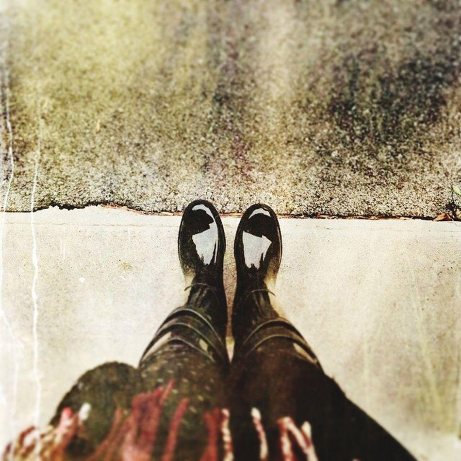 Boots Rain fall Seasonchange plaid scarf
