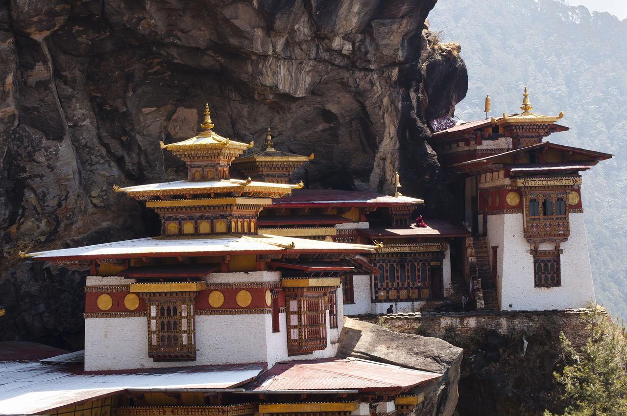 Taktsang Monastery (Tiger's Nest) - Bhutan Taktsang Taktsang Monastery Tiger's Nest Bhutan Buddhism Built Structure Cliff Mountain Paro Place Of Worship Temple