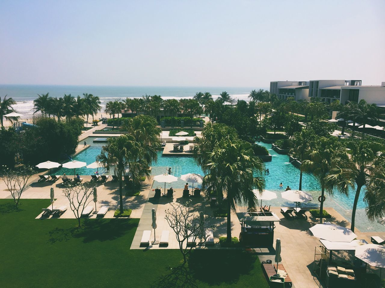 Hyatt Hyatt Regency Hotel Resort Summer Pool Nice Atmosphere Beautiful Surroundings Resting View Relaxing Traveling Showcase March Vscogood Vscocam VSCO Da Nang Vietnam Vacation Sky Beach Sea Holiday Ocean