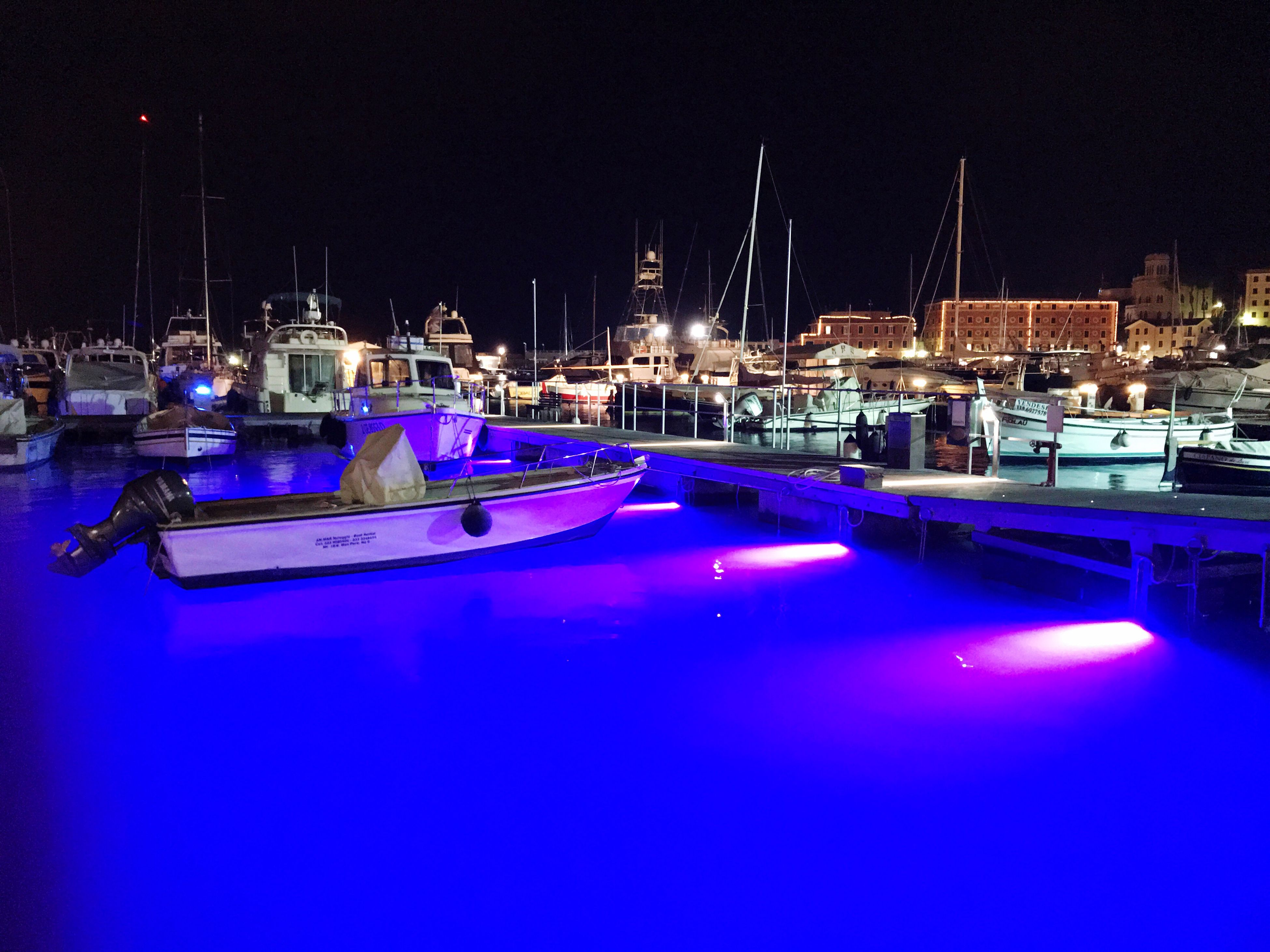 night, nautical vessel, reflection, water, illuminated, no people, moored, architecture, outdoors, sky