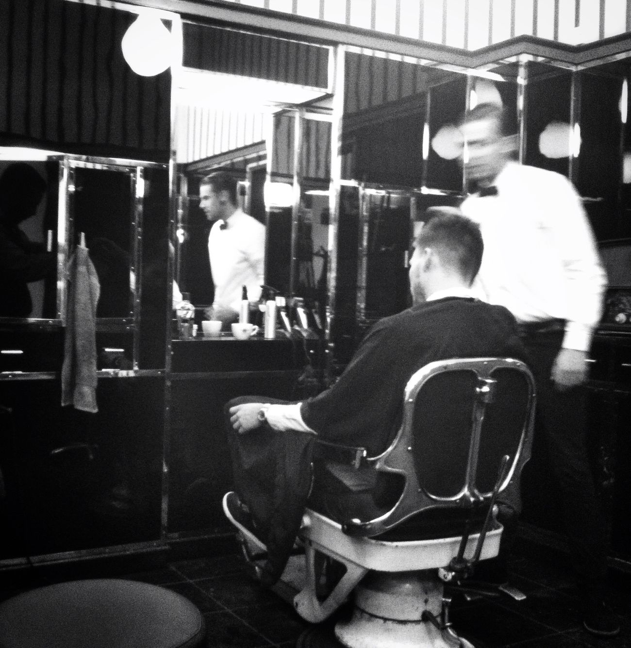 getting my beard trimmed Barber Blackandwhite