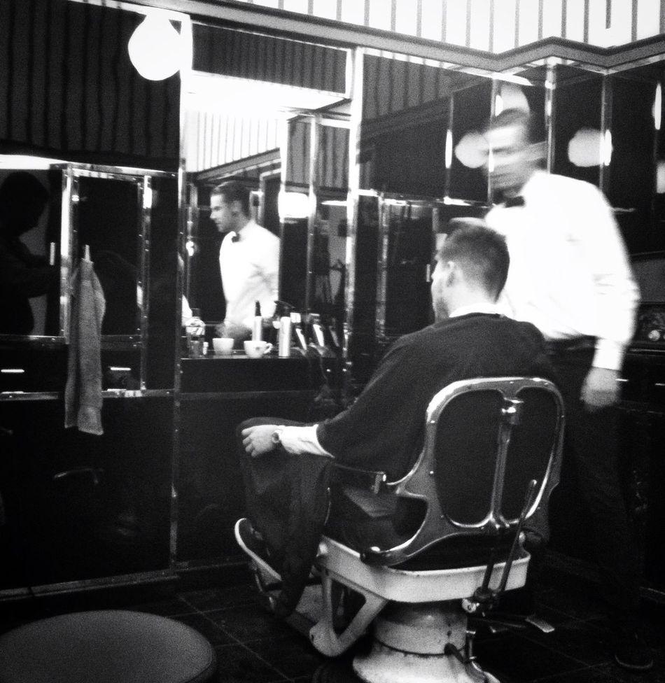 getting my beard trimmed Barber Blackandwhite