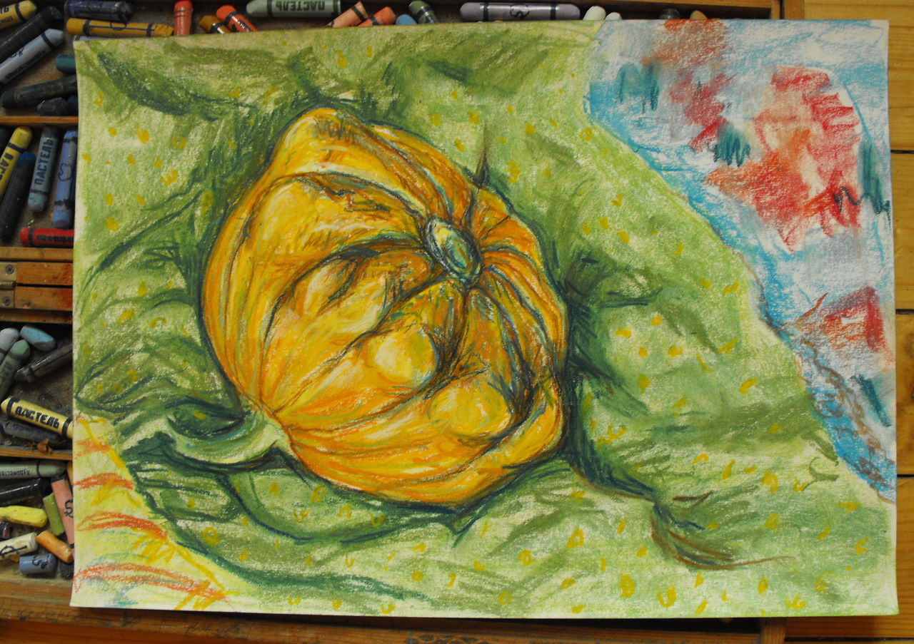A Yellow Squash ArtWork from some other Autumn , on sale either directly from me or from http://www.artmajeur.com/en/artist/linandara/collection/still-life/1354879/artwork/little-yellow-squash/5067055 priced about $33. Pastel Painting Soft Pastels Art Gold Colored Art And Craft Art Product Creativity Golden Yellow патиссон кабачок Пастель