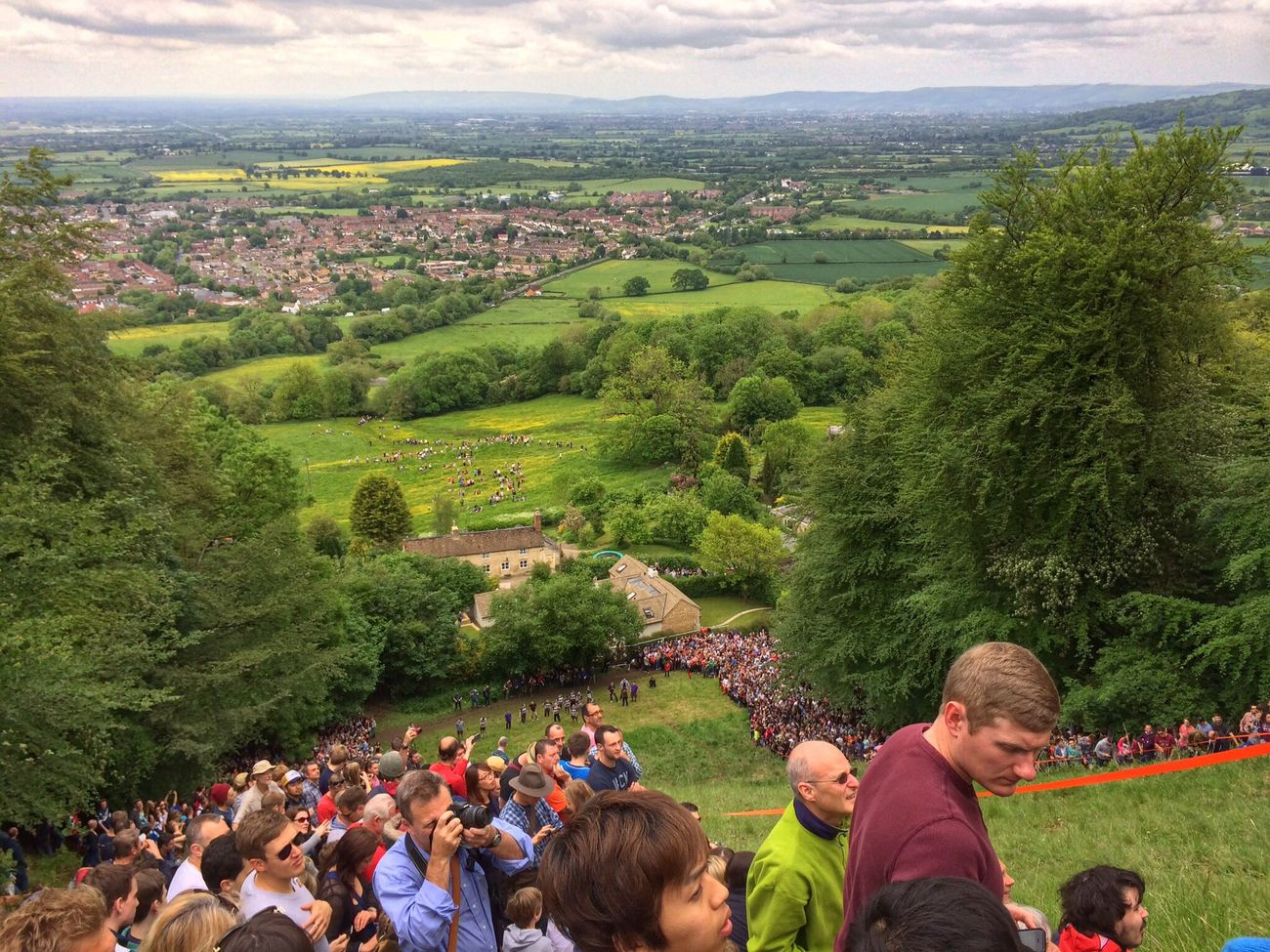 ...and one from the top. Cheese Rolling