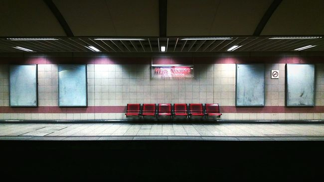 Face to face with the empty. Metro Station Station Empty Emptiness Empty Seats Empty Space Mobilephotography Mobile Photography Mobile Photo Cellphone Photography Greek Metro Urban Showcase: February Metro Greece