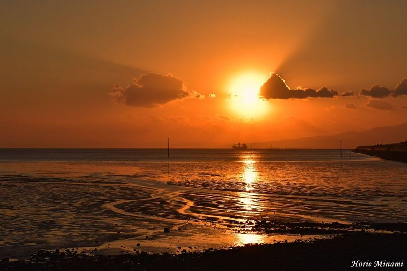 Sunset Sea Sun Orange Color Silhouette Landscape EyeEmNewHere The Week On EyeEm EyeEm Team EyeEm Best Shots Japan 佐賀県 三池港