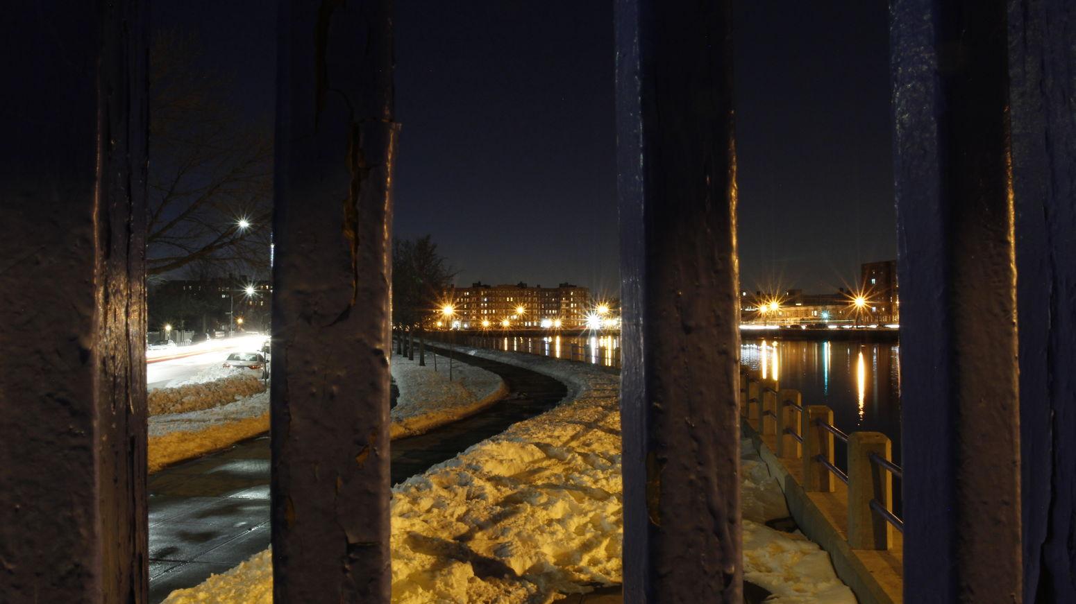 Sheepshead bay Sheepshead Bay NYC Photography Badideaphotography Photographer Night Long Exposure Lights Snow ❄ Jonas NYC