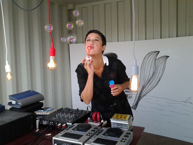 One oficial my best friends playing music and having the most fun with us, all of her friends Djing Partying 12daysofeyeem