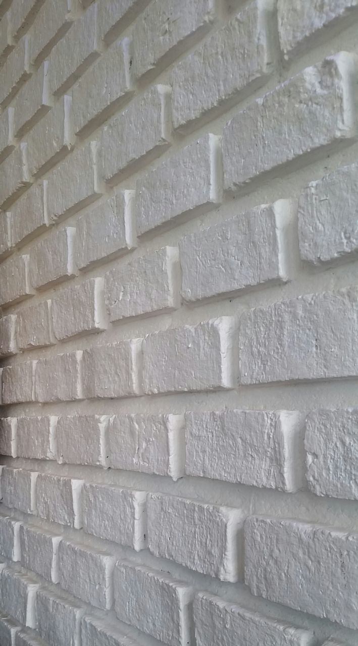 brick wall, wall - building feature, white color, full frame, backgrounds, textured, architecture, built structure, no people, day, close-up, modern, building exterior, outdoors