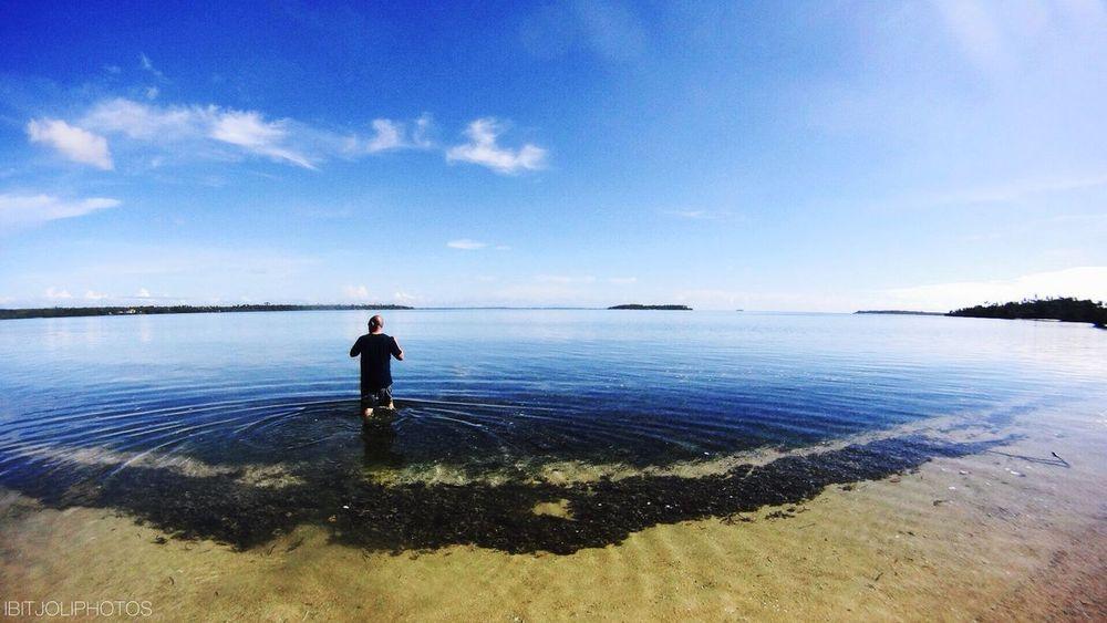 My dad at Koyobata island Halmahera Beach Enjoying Life Taking Photos TBT  Beautiful