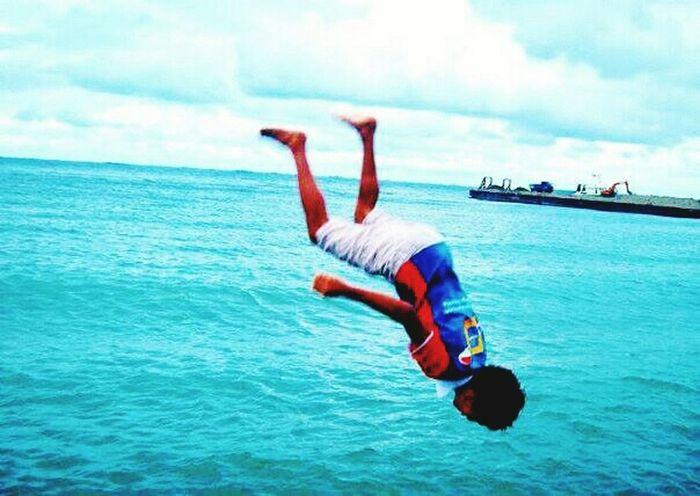 JustDoIt Yolo Backflip BackFlippin' Jump! Oceanlife Nofear