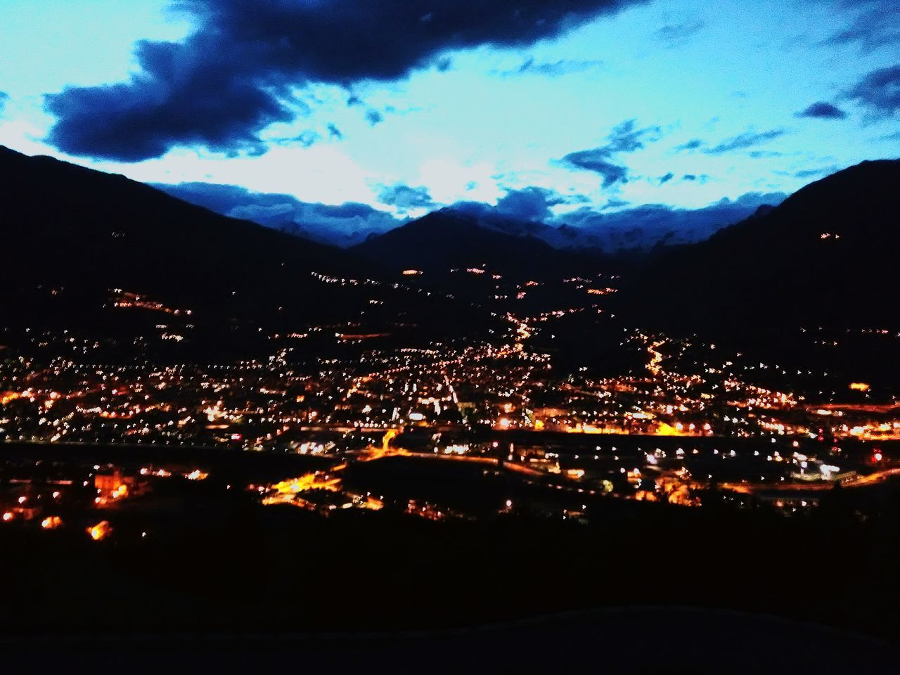 Night Aosta Aostavalley Pila Romantic Landscape Mountains Alps Discovering Places Home Sweet Home Charvensod