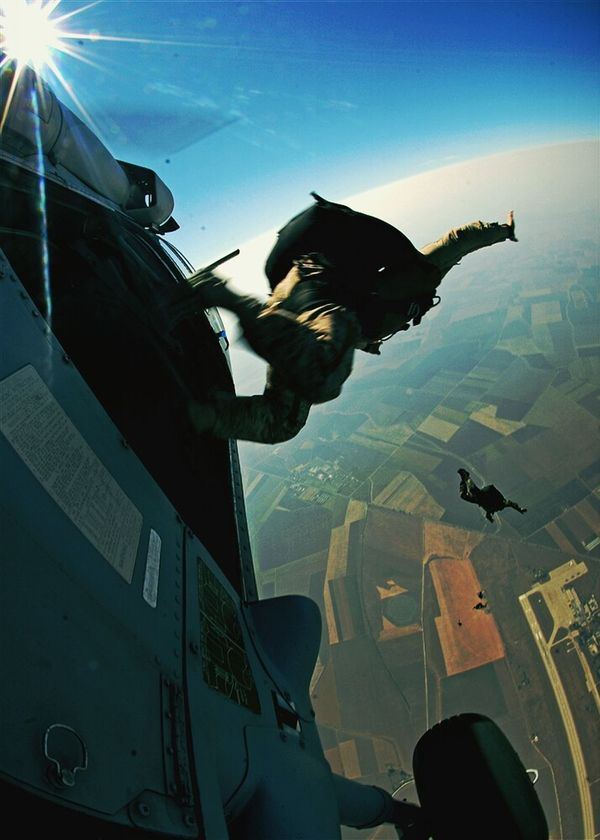 the way we get places Jumper Sky Dive Freedom Fighters