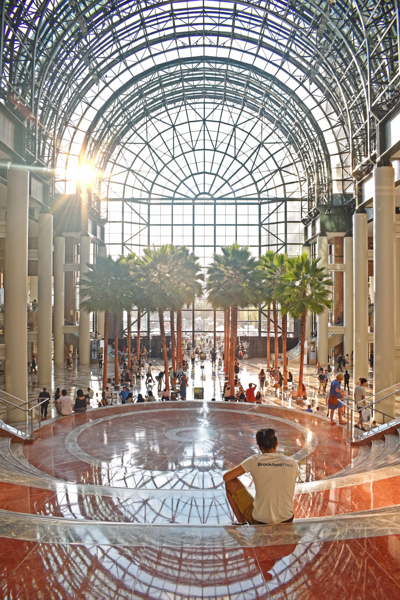 Real People People City Life Brookfield Place Mall Battery Park Architecture Travel Destinations Built Structure Sitting Arch Tourism Large Group Of People Day Women Lifestyles Adults Only Vacations Adult Indoors  Men Water Relaxing Enjoying The View Enjoying Life