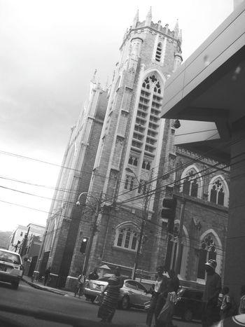 Trinidad And Tobago Portofspain Port Of Spain Church Street People Blackandwhite Black & White Black And White