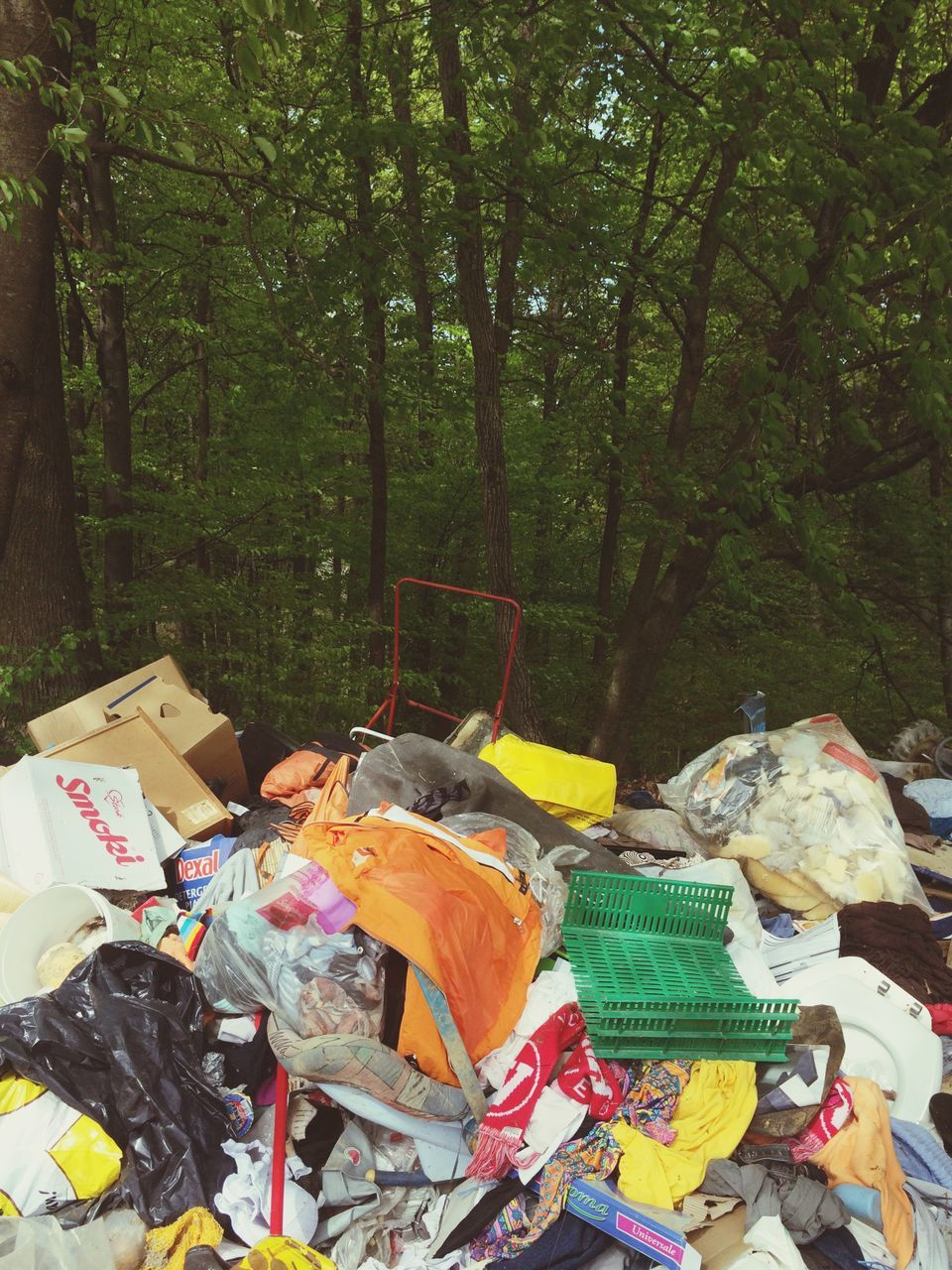 tree, large group of objects, no people, day, choice, outdoors, multi colored, waste management, nature