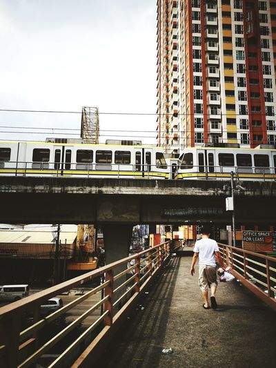 Walking Transportation Footbridge Outdoor Keep Walking Travel Be More Barrio City Here At Qc Somewhere Out There Spontaneous Adventures Getaway Man