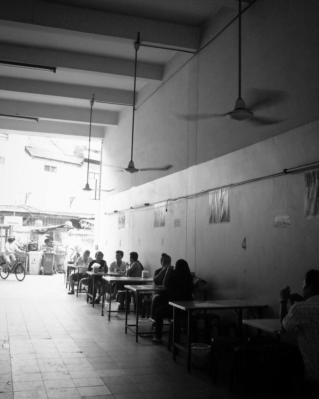 Restaurant Bangkok Bw_collection Black And White Street Photography Blackandwhite Monochrome Silhouette