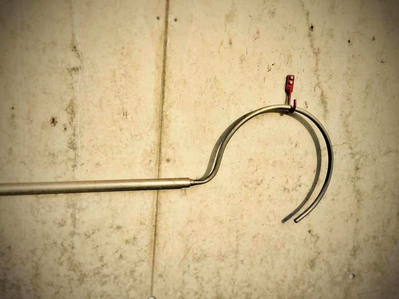 Red hook... Wall Wall - Building Feature Hooks Red Metal Hook Dreiländereck