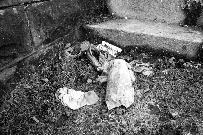 Black And White Lifestyles Outdoors Close-up Black And White Photography Blackandwhite Garbage Trash College Life College