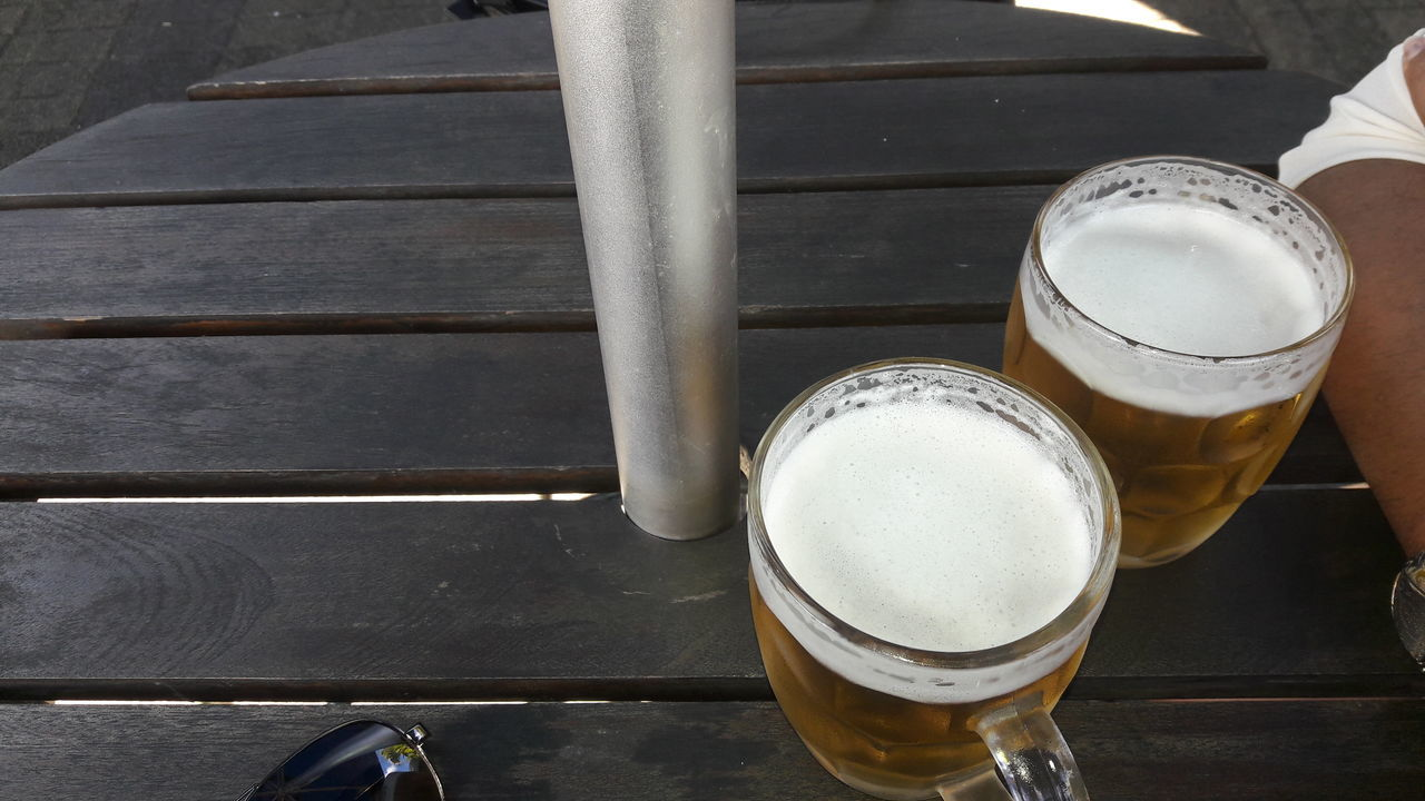 drink, beer - alcohol, frothy drink, beer glass, drinking glass, alcohol, table, refreshment, food and drink, beer, no people, froth, craft beer, close-up, brewery, freshness, day, indoors, froth art