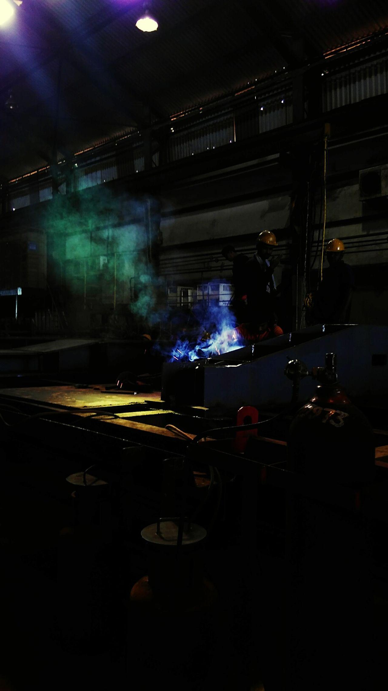Welding Work Art Colors Welding An Iron Structure Welding Gas