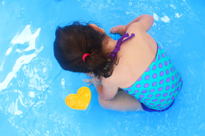 Niece 57daysinEcuador Blue Blue Eyes Child Childhood Color Happiness Happy Niece  Person Pool Pool Time Portrait Showcase: January Summer Summertime Young Women