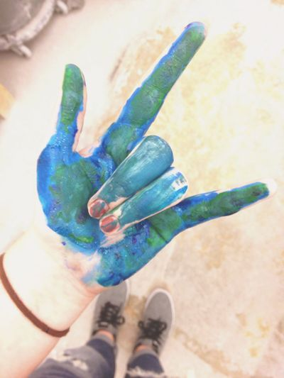As we burst into color returning to life Blue Green 5SOS 5 Seconds Of Summer Band Hand Vans RockandRoll