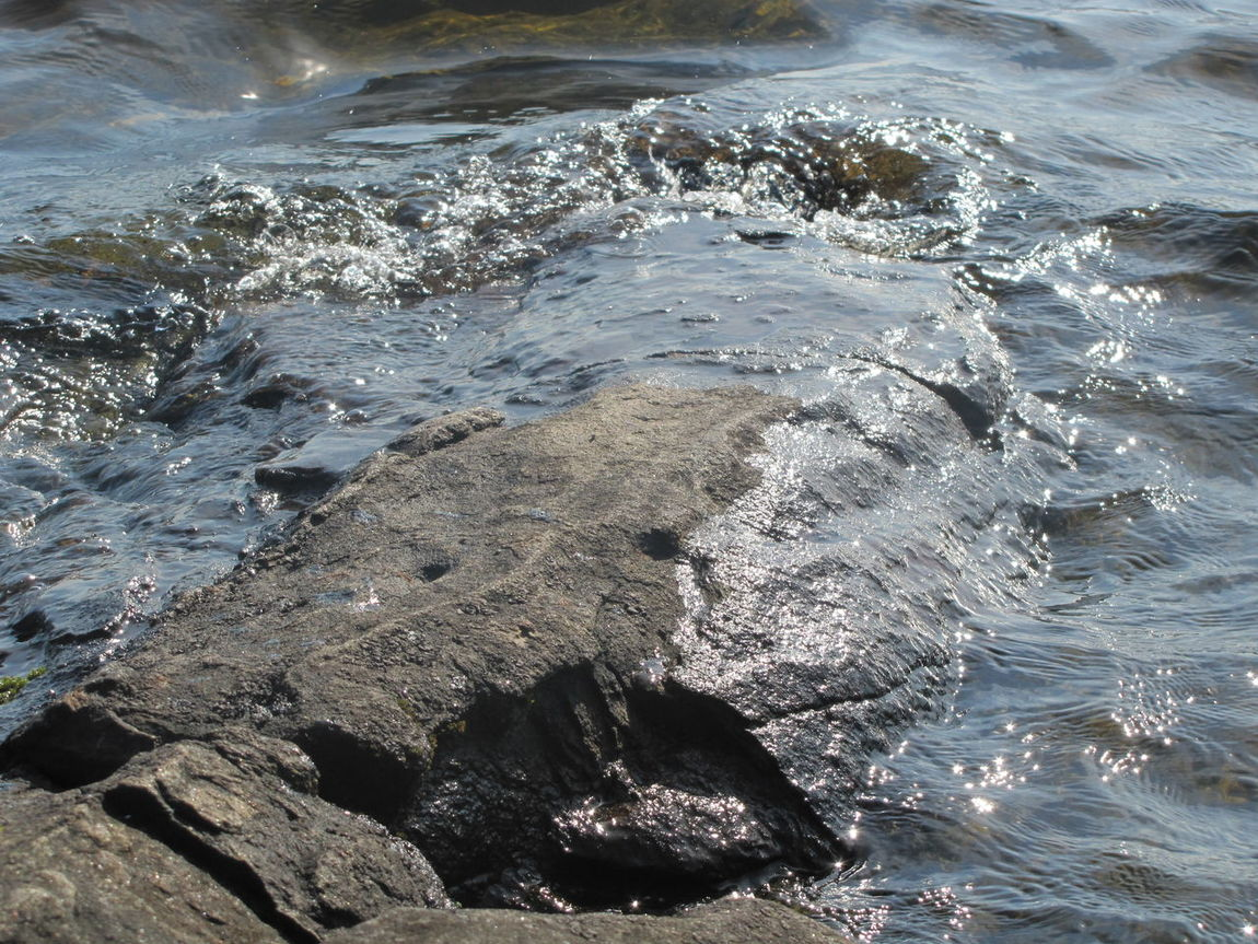 Lake Rocks Sunshine On Water Waves And Rocks Shimmering Waters Ripples Voyageur National Park