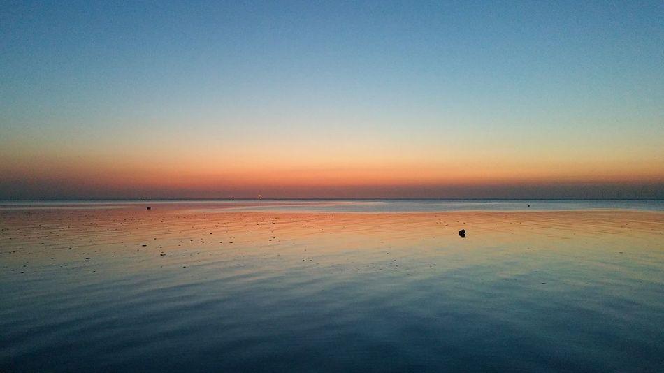 Sunset hoylake at high tide... Wirral Wirral Peninsula Hoylake Coast English Coastline Uk Coastline Home Is Where The Art Is Reflections Reflections In The Water Reflection Perfection  Sunset Sunsetreflection Colour Of Life