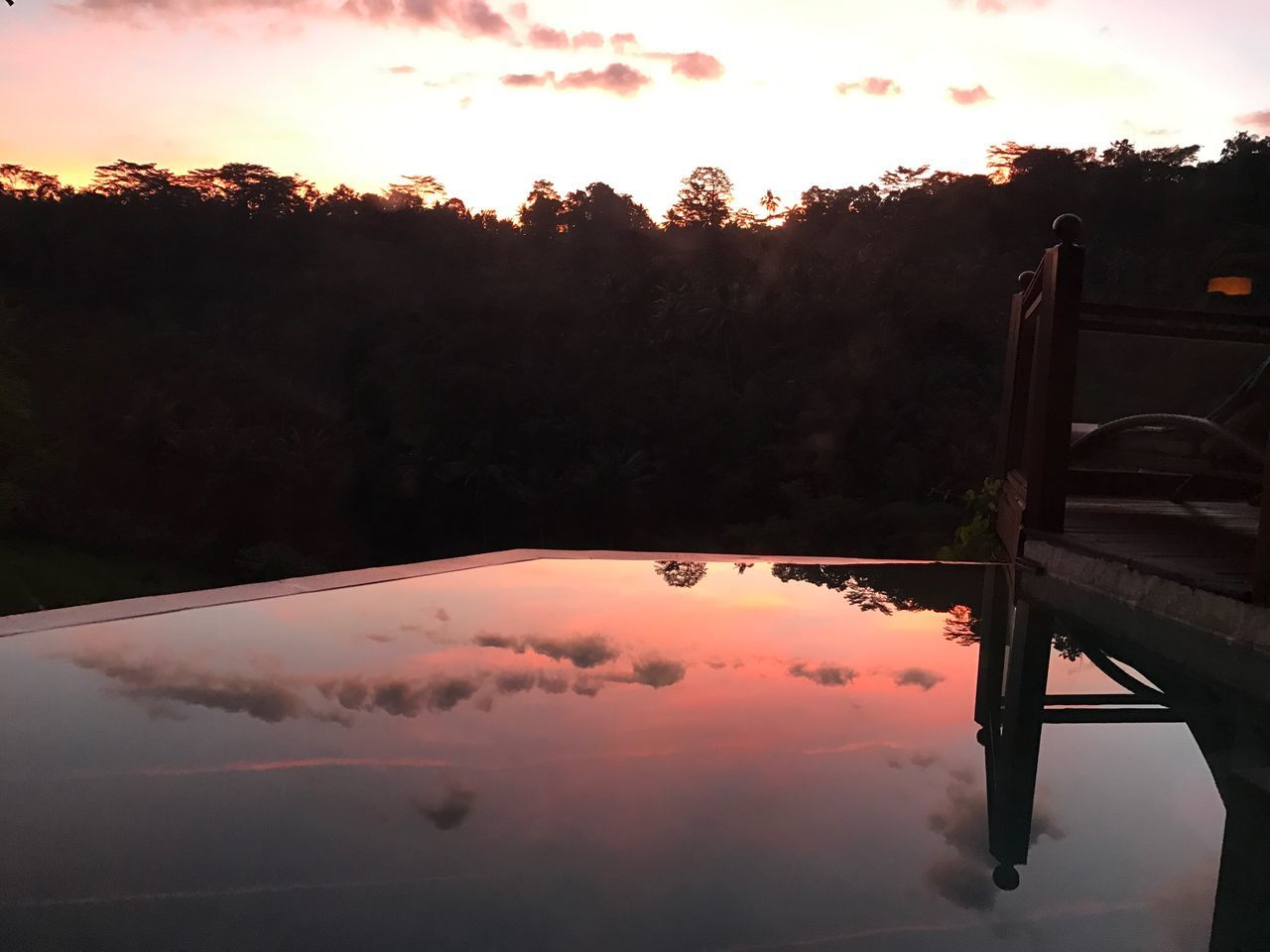 Sunset Reflection Sky Outdoors Nature Water Silhouette No People Beauty In Nature Mountain Close-up Day INDONESIA Bali Ubud