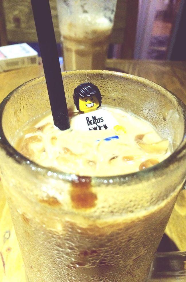 Enjoy my latte Coffee LEGO Drinking A Latte Enjoying Life
