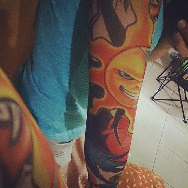 Ready for tomorrow's battle! :D PinTaDos Orenji Summer Tattoosleeve