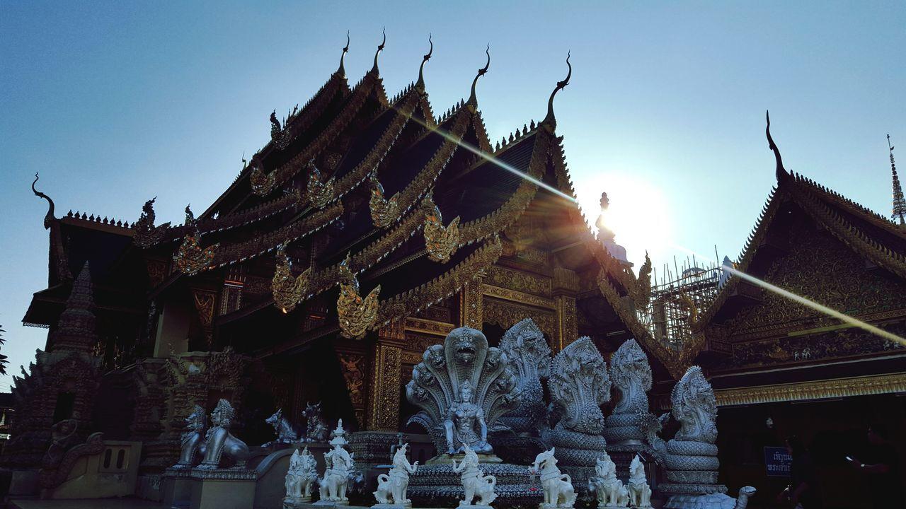 Thailand Temple Lamphun Lamphun ,Thailand Sunset Prayer Iammalaysian Goodluck Happy Sky Traditional