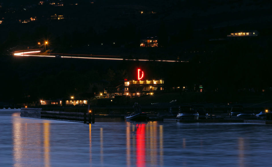 Darnell's Resort on Lake Chelan. Colour Of Life Illuminated Landscape Long Exposure Movement Multi Colored Night Night Lights Night View No People Reflection Reflection Reflection_collection Streaking Streaking Light Water Waterfront