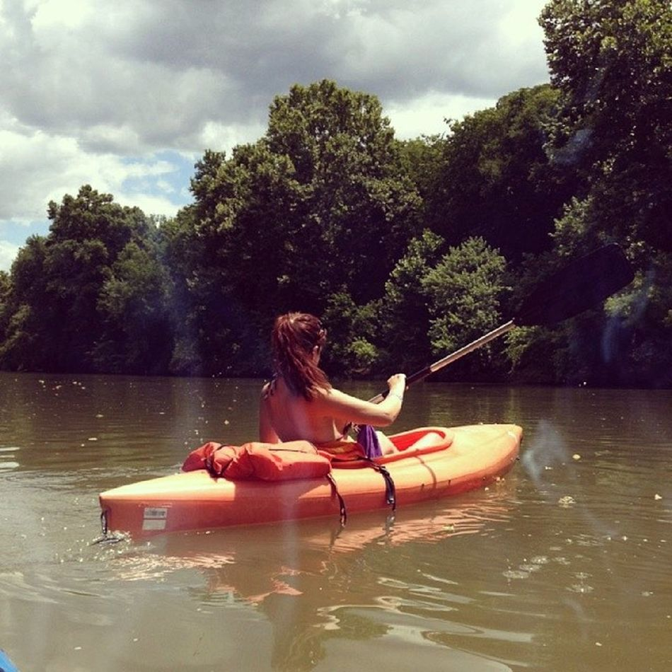 Really wanting to get back on the water soon ♥ Think its time for the best boyfriend ever to buy me a kayak :D Kayak DuckRiver SummerTimeAndTanLines Summer TheRiver YesPlease