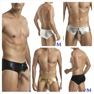Snap closure snug open front briefs Style 8649 now at www.esexymale.com ObeyYourAddiction Stand Out We Rock Fashion Esexymale.com