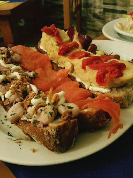 Enjoying A Meal Tapas SPAIN Enjoying Life First Eyeem Photo