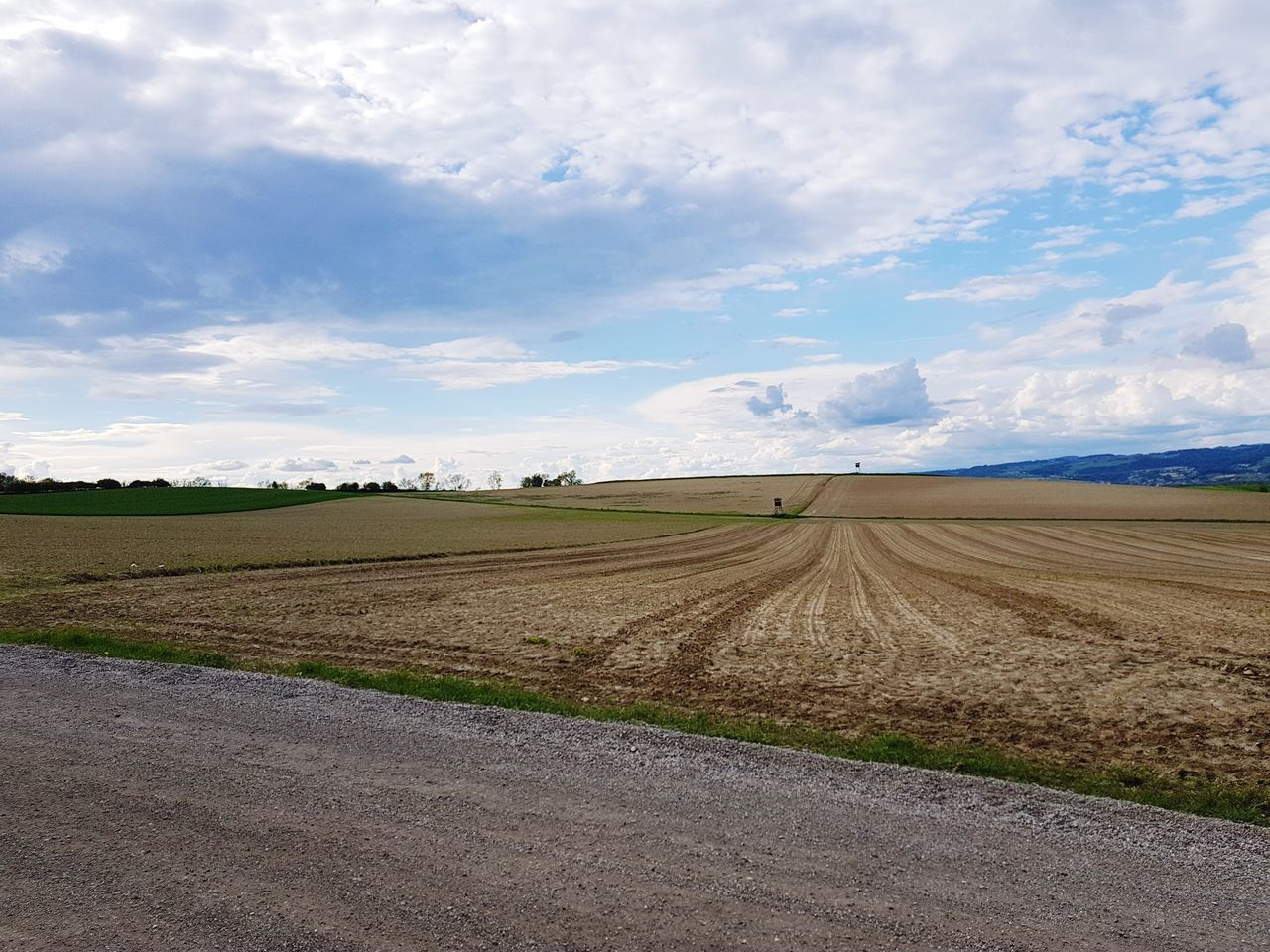 landscape, sky, cloud - sky, field, tranquil scene, nature, rural scene, scenics, beauty in nature, tranquility, agriculture, day, road, no people, plough, outdoors