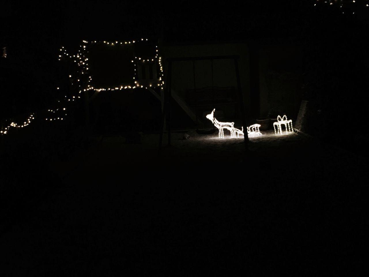 Christmas Lights Reindeer Light And Shadow No People Nightphotography