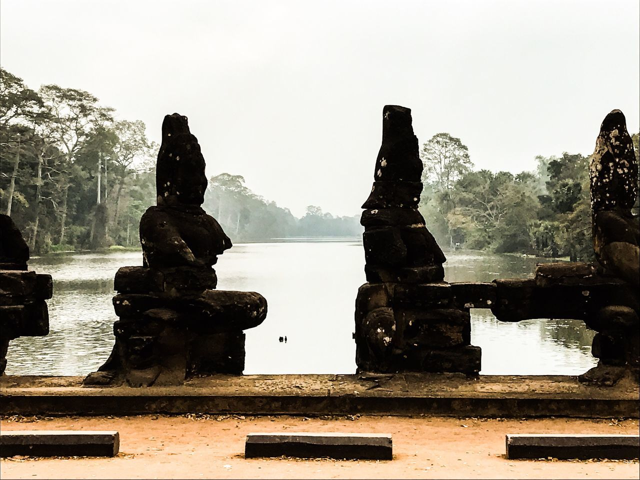 Angkor Thom. Bridge of Angels and demons. Statue Sculpture Travel Destinations Travel Photography Cambodia Angkor Thom