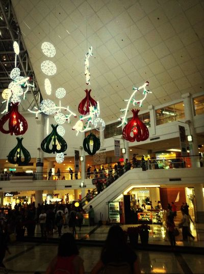 Christmas rush as usual. People Shop Rush Xmas Goodies Crowded Mall