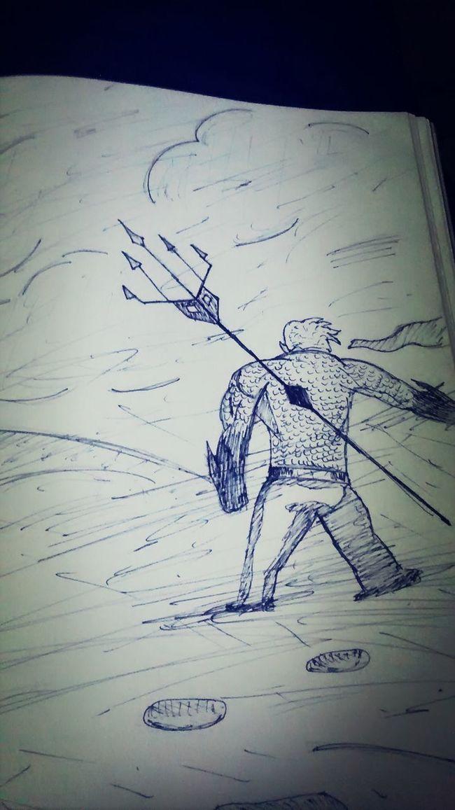 Aquaman Drawing Sharpiepen