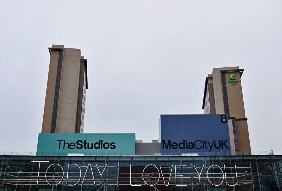 Love everyone. Communication City Built Structure Text Building Exterior Architecture Low Angle View No People Skyscraper Day Outdoors Love EyeEm Love Everywhere EyeEm Gallery Message Getty X EyeEm Clear Sky Modern Sky Urban Mediacityuk Love ♥ EyeEm Masterclass Love Without Boundaries